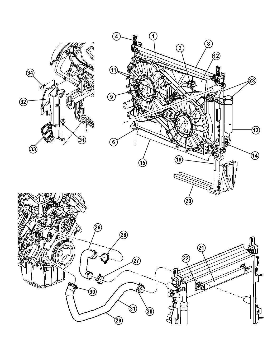 Chrysler 300 Hose Radiator Inlet