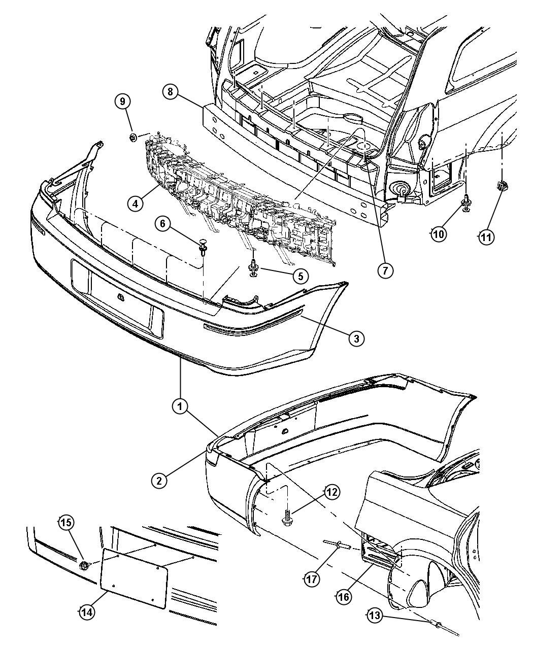 Dodge Fascia Rear With Sales Code Rear Dual