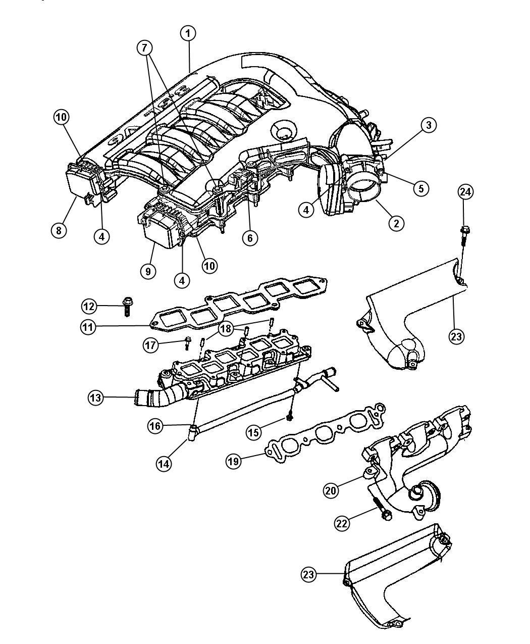 Chrysler 300 Strut Intake Manifold Egg