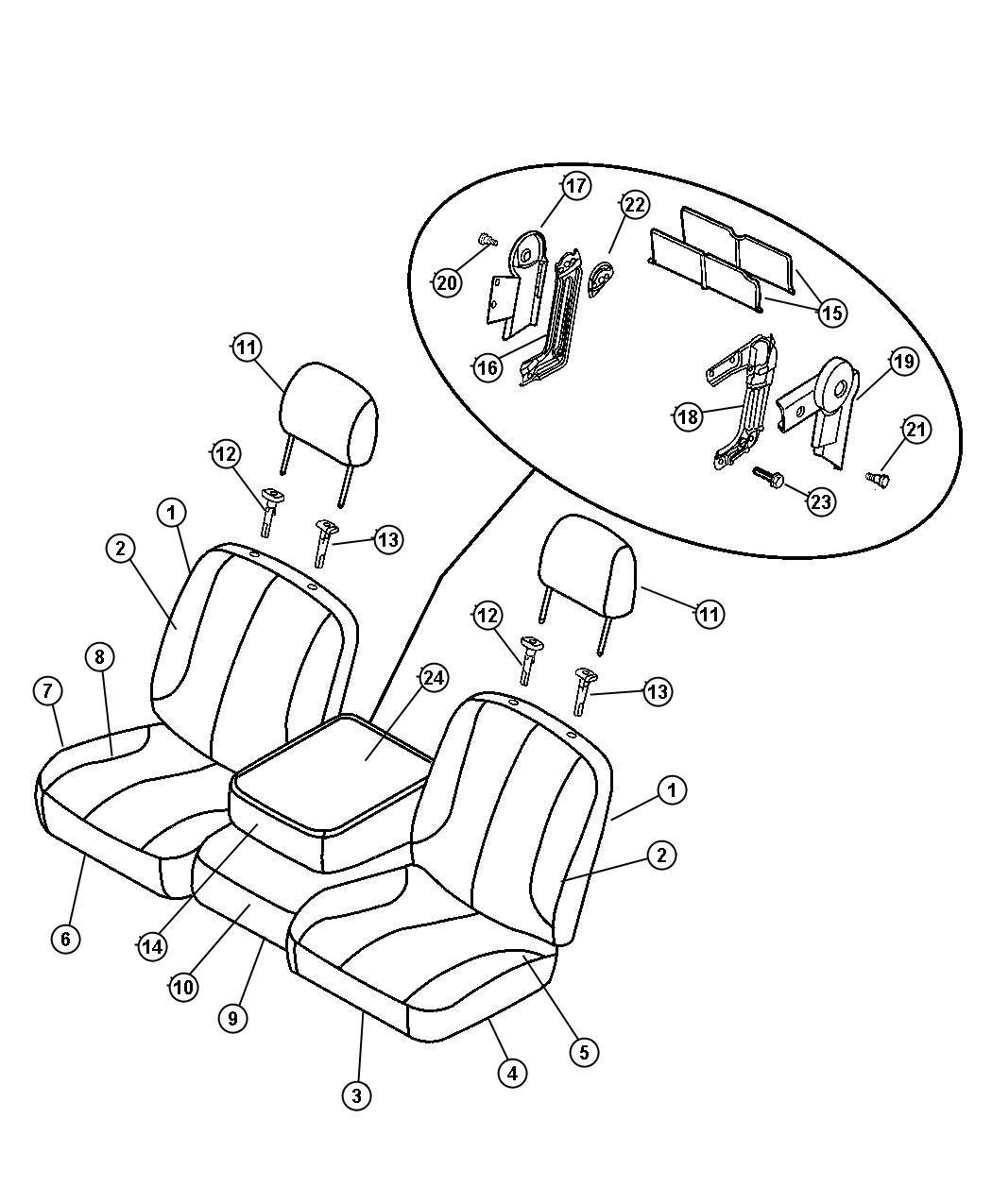 Dodge Ram Cover Front Seat Cushion D5 D5