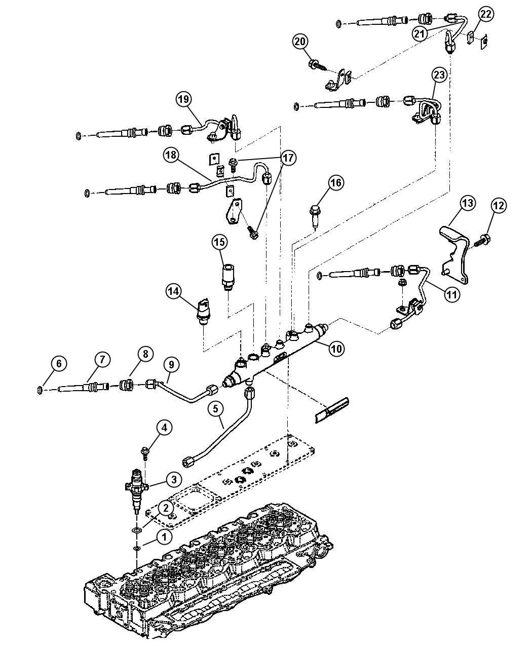 Dodge Ram Injector Fuel Remanufactured Single
