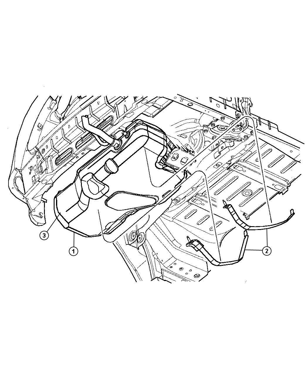 Chrysler Pt Cruiser Shield Fuel Tank Heat