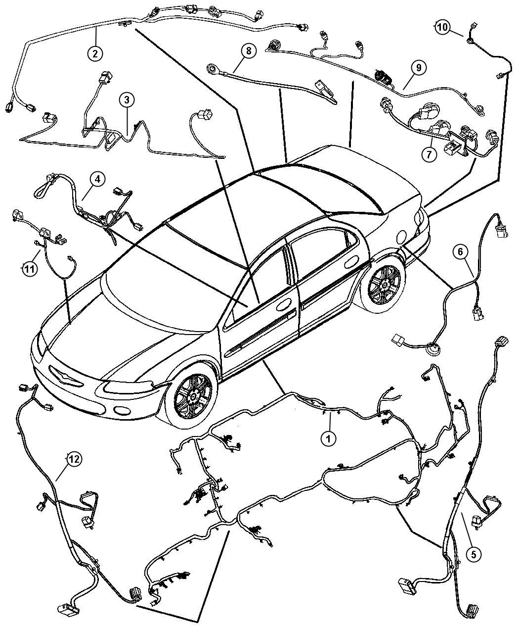 Chrysler Sebring Wiring Unified Body Radioside
