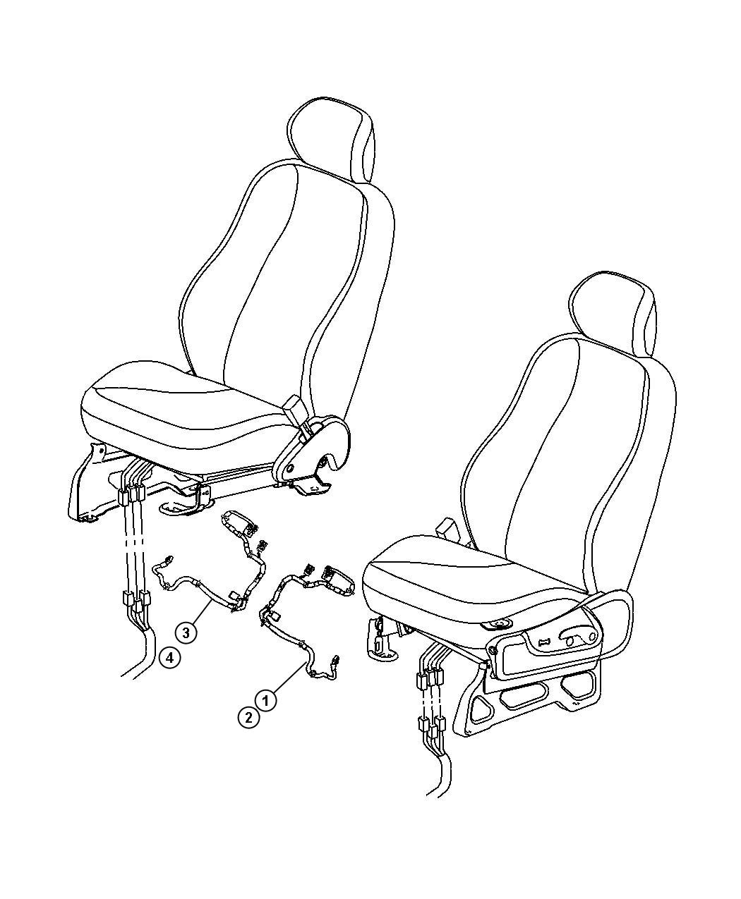 Jeep Liberty Wiring Power Seat Export Right Trim
