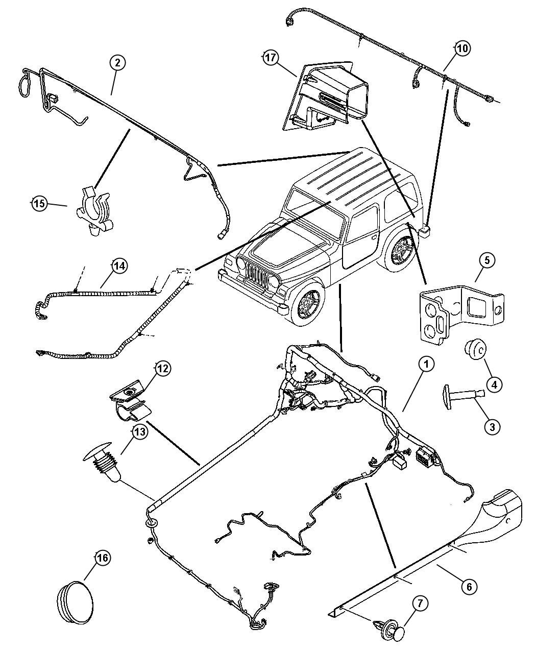 Jeep Wrangler Wiring Body Easy Folding Soft Top