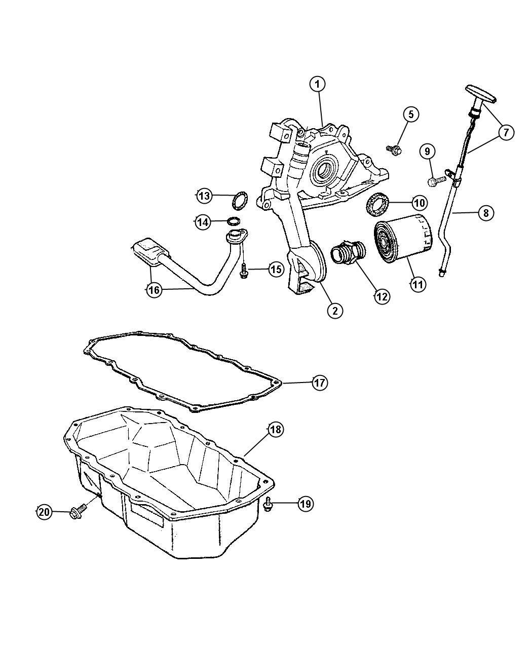 Jeep Wrangler Filter Engine Oil Magneti Marelli