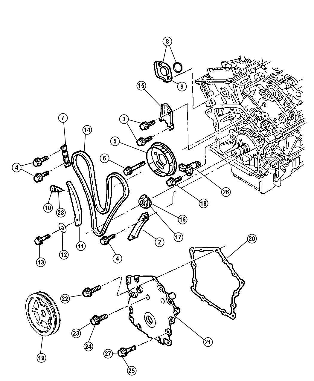 Dodge Intrepid Sprocket Intake Camshaft Right Right