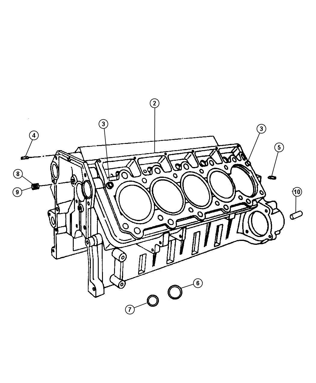 Dodge Viper Engine Long Block Export Remanufactured