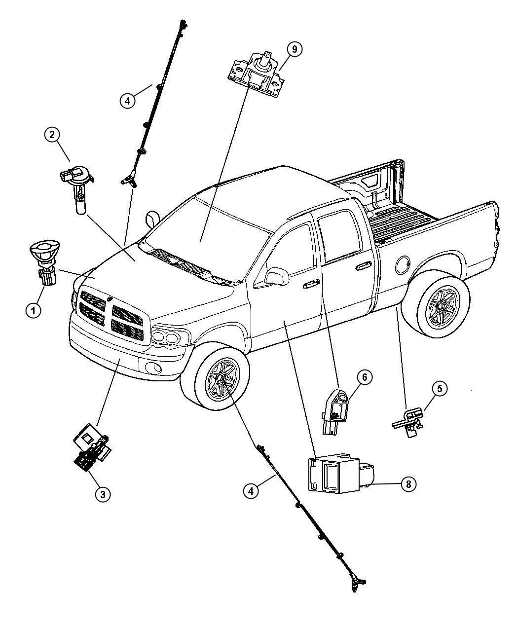 Dodge Ram Slt Quad Cab 5 7l Hemi V8 A T 4x2