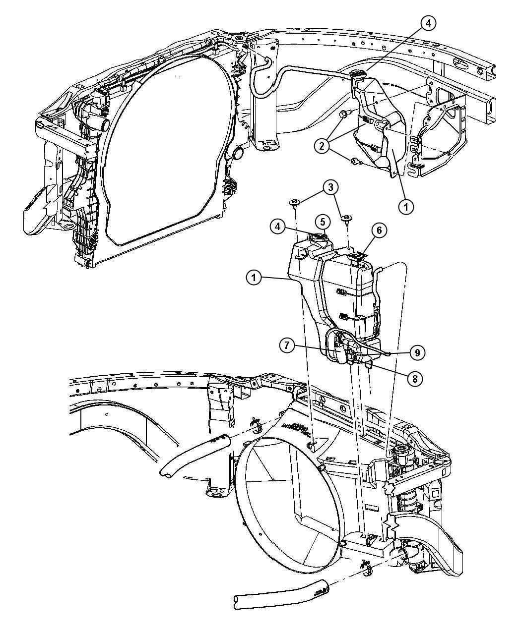Dodge Ram Grommet Windshield Washer Pump