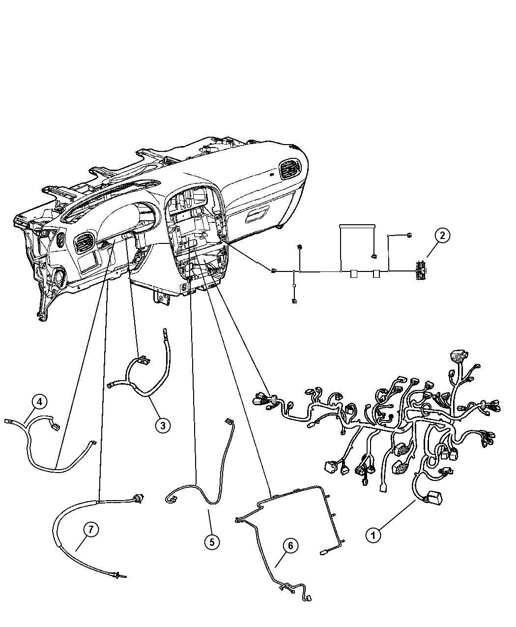 Dodge Grand Caravan Wiring Instrument Panel Atc W 3
