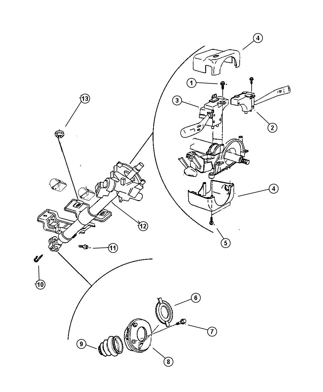 Jeep Cherokee Switch Intermittent Wiper Right With