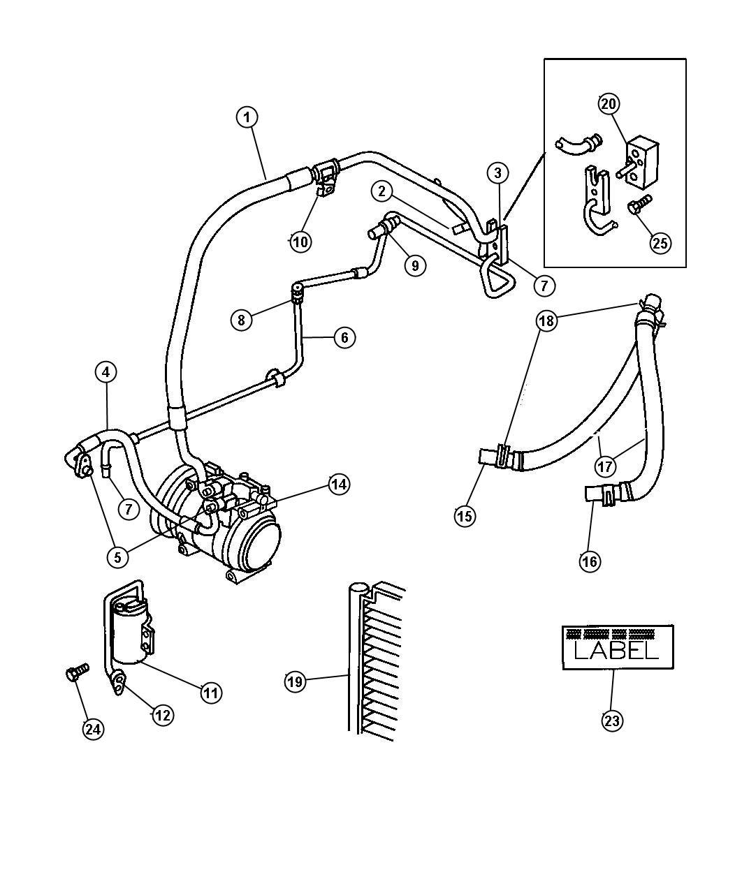Dodge Caravan Hose Heater Engine To Heater Core