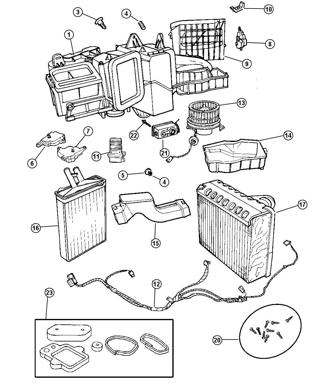 Chrysler Lhs Core Heater