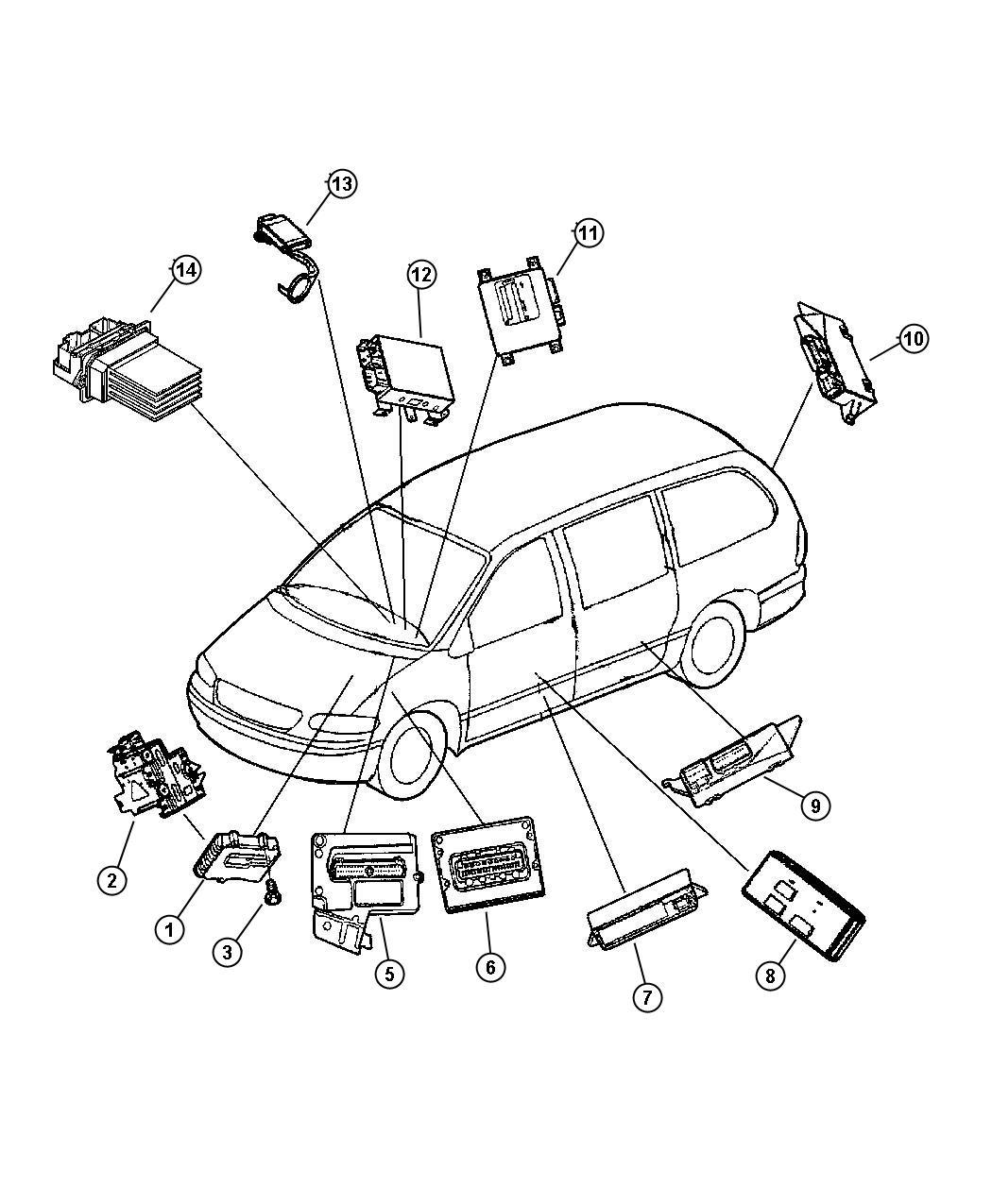 Dodge Grand Caravan Module Front Control Remanufactured