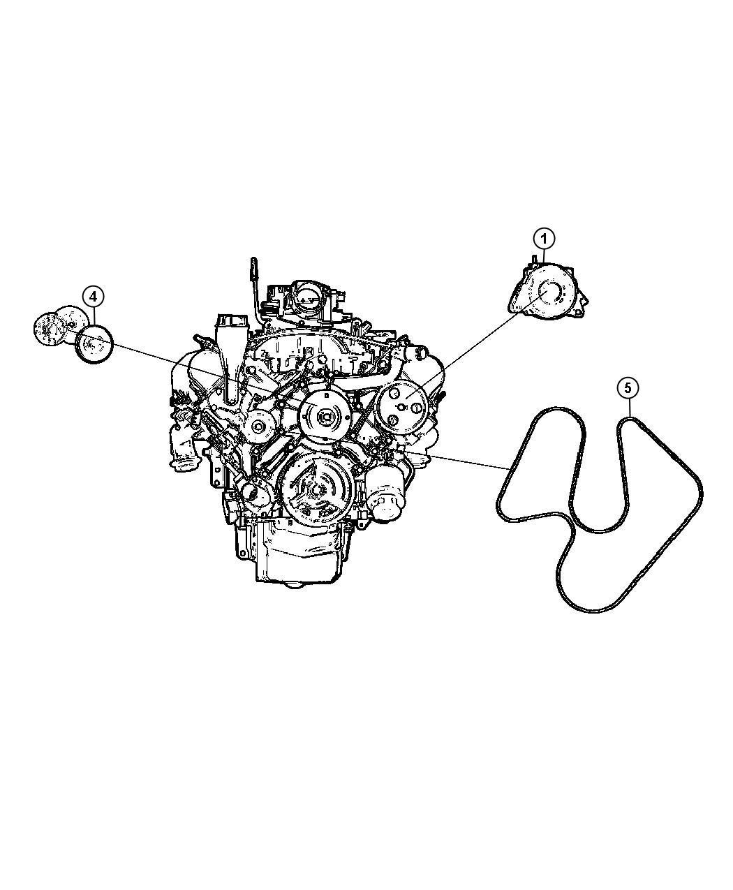 Jeep Grand Cherokee Tensioner Belt 3 7l V6 Engine