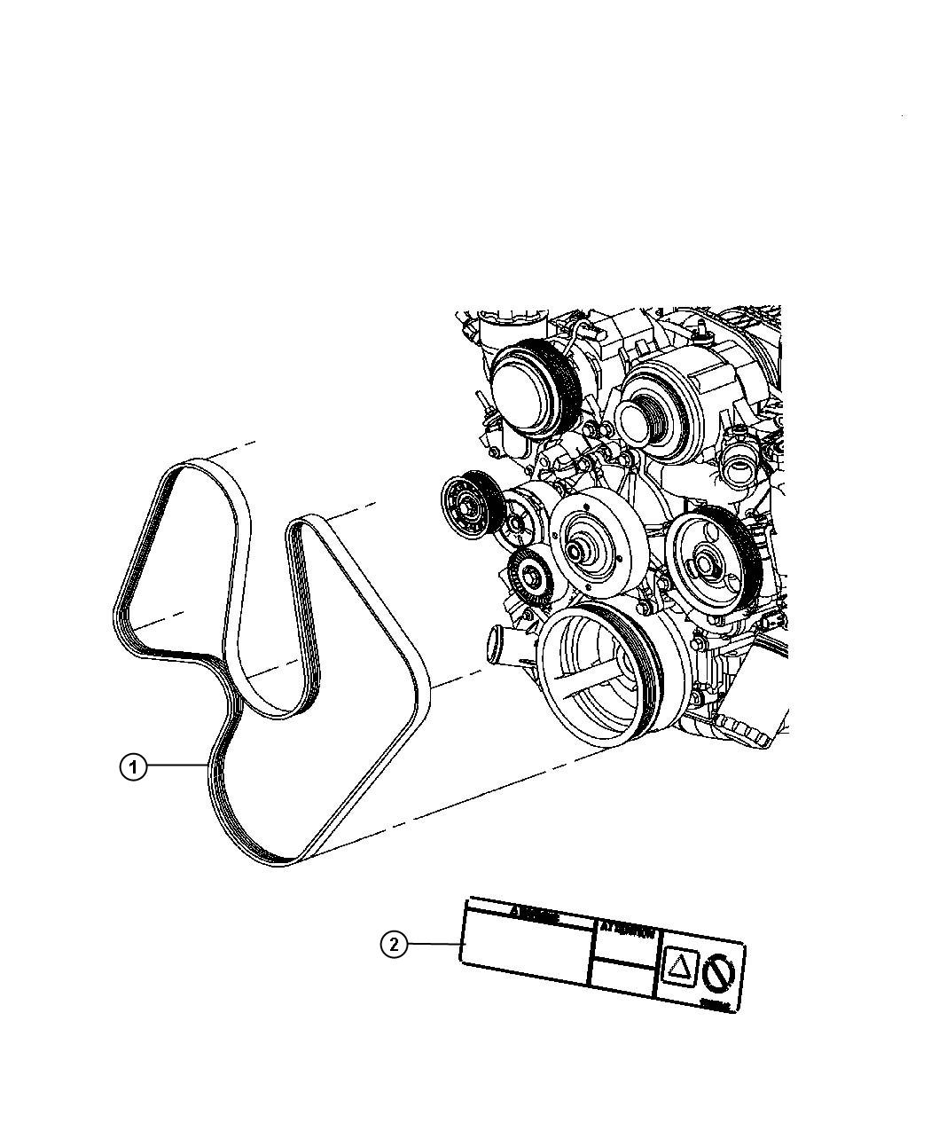 Jeep Grand Cherokee Label Belt Routing Engine Cooling