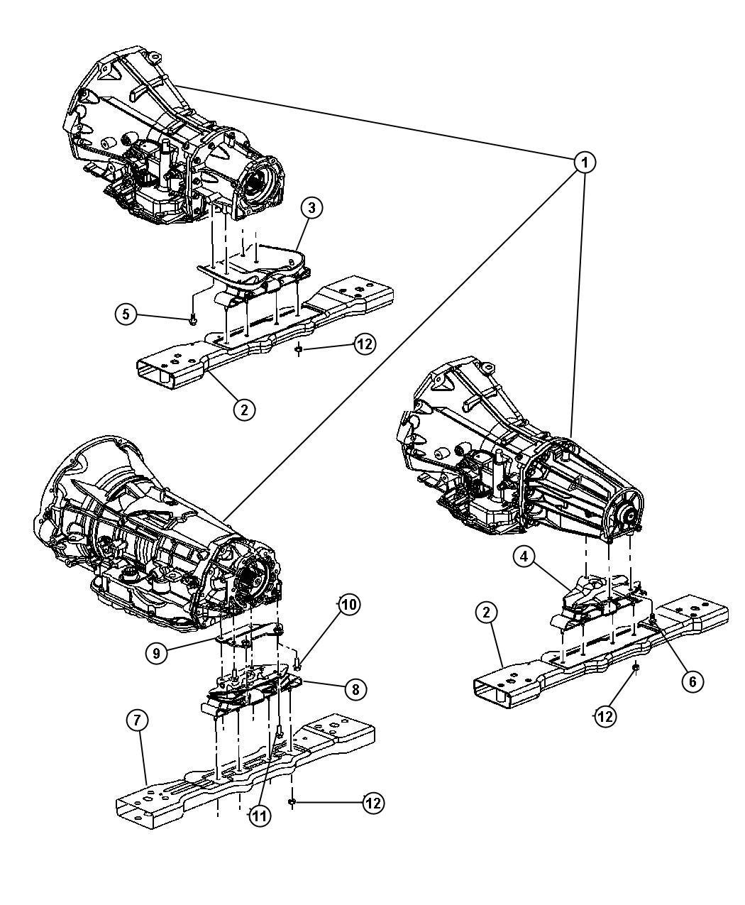 Jeep Liberty Mount Transmission