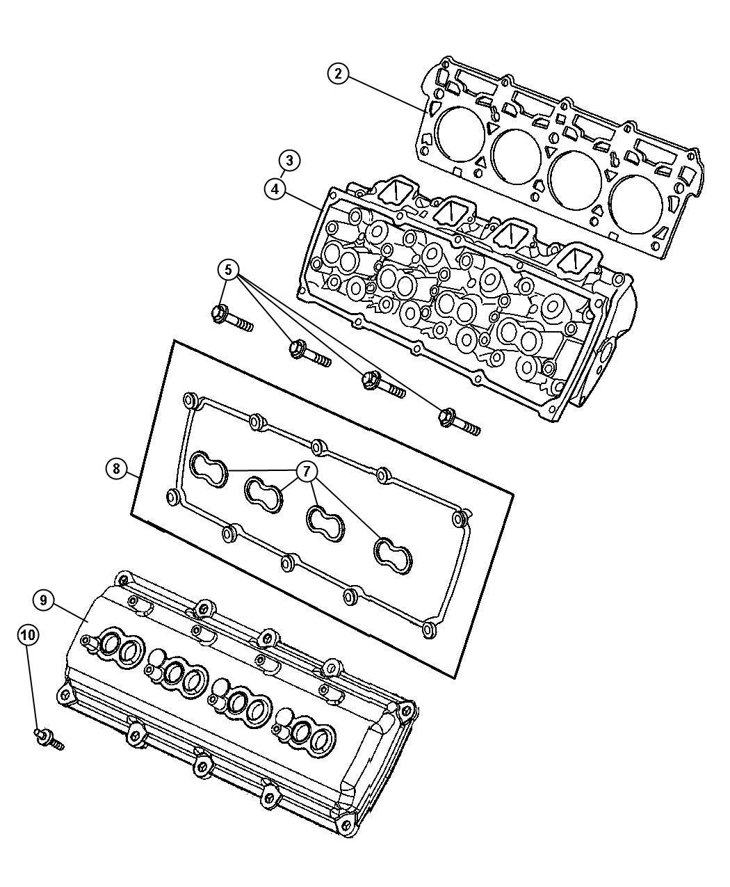 Dodge Ram Gasket Spark Plug Well Left Side