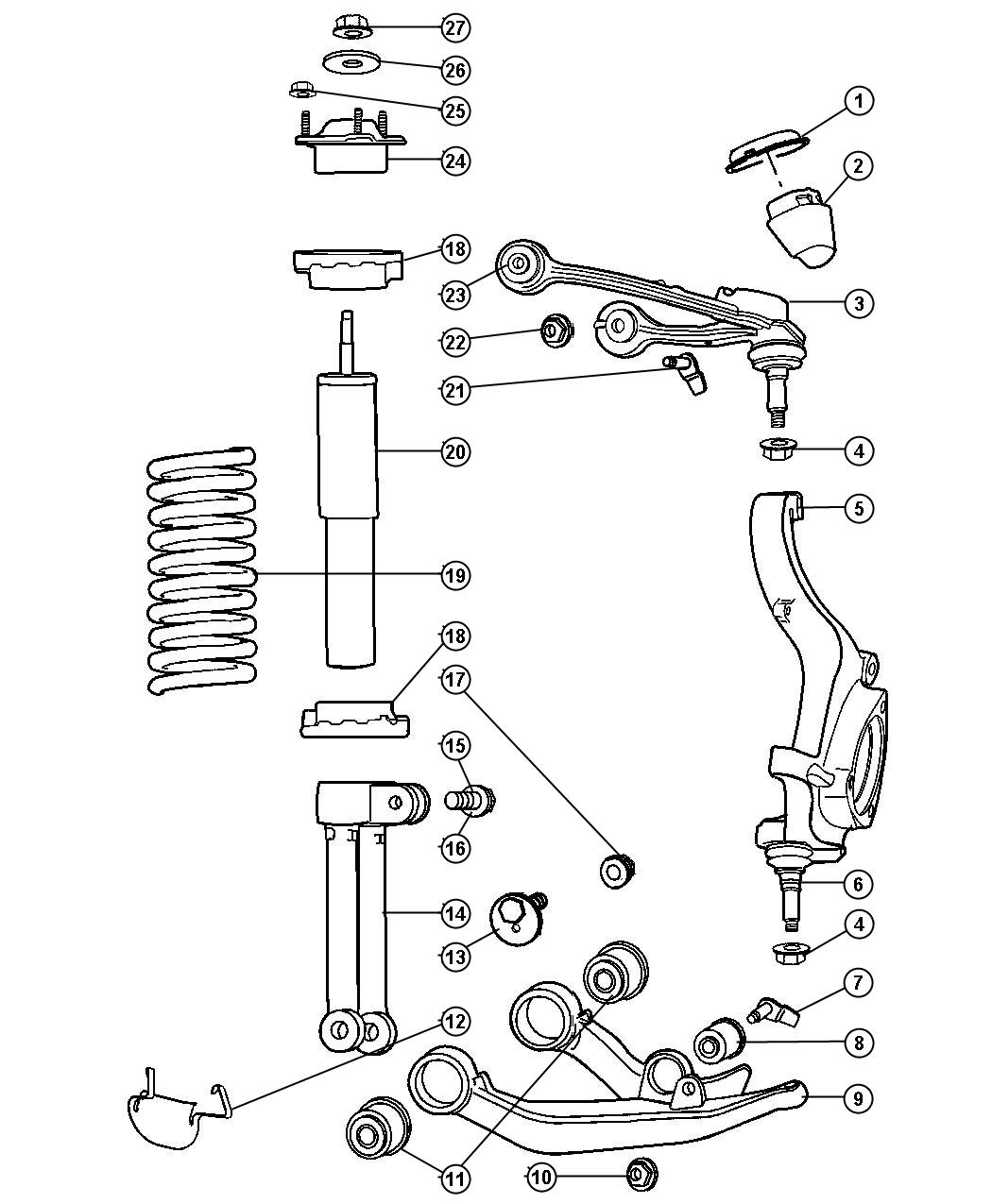 Jeep Liberty Used For Bolt And Washer Used For