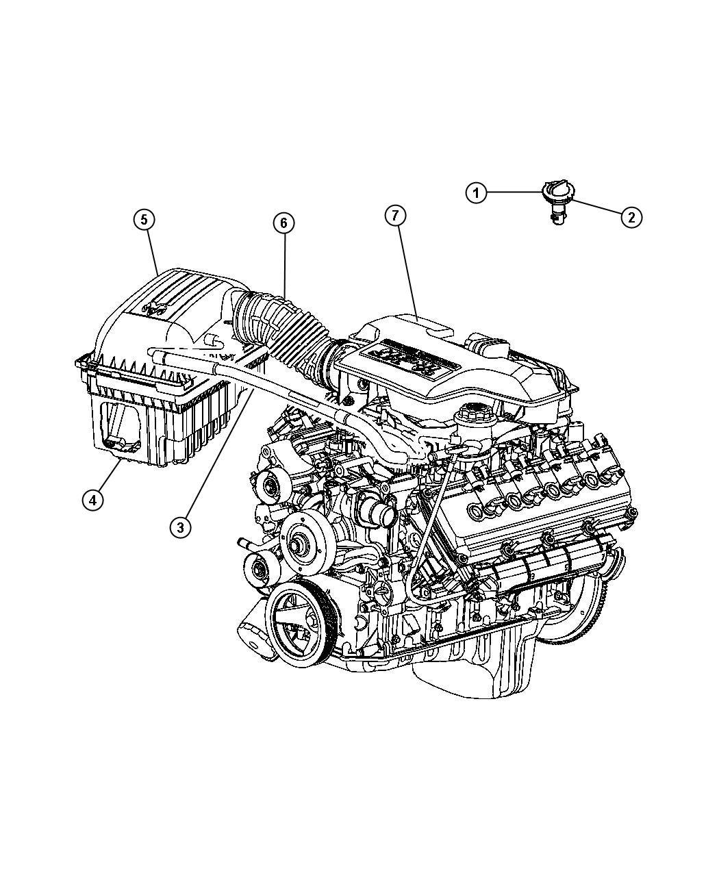 Dodge Magnum R T 5 7l Hemi V8 Valve Crankcase Vent