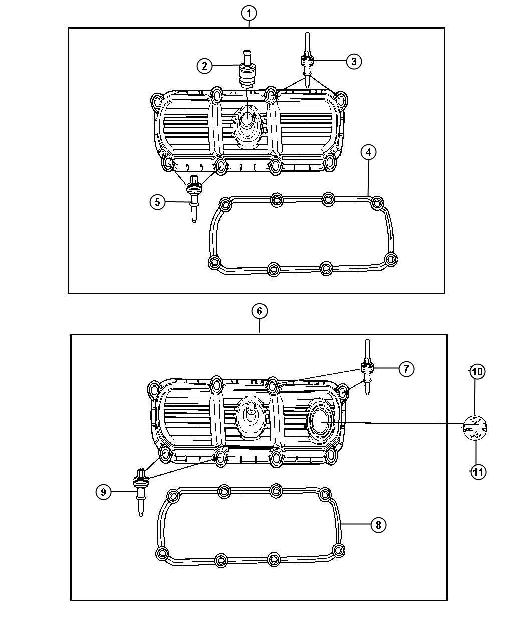 Jeep Grand Cherokee Cap Oil Filler Markings