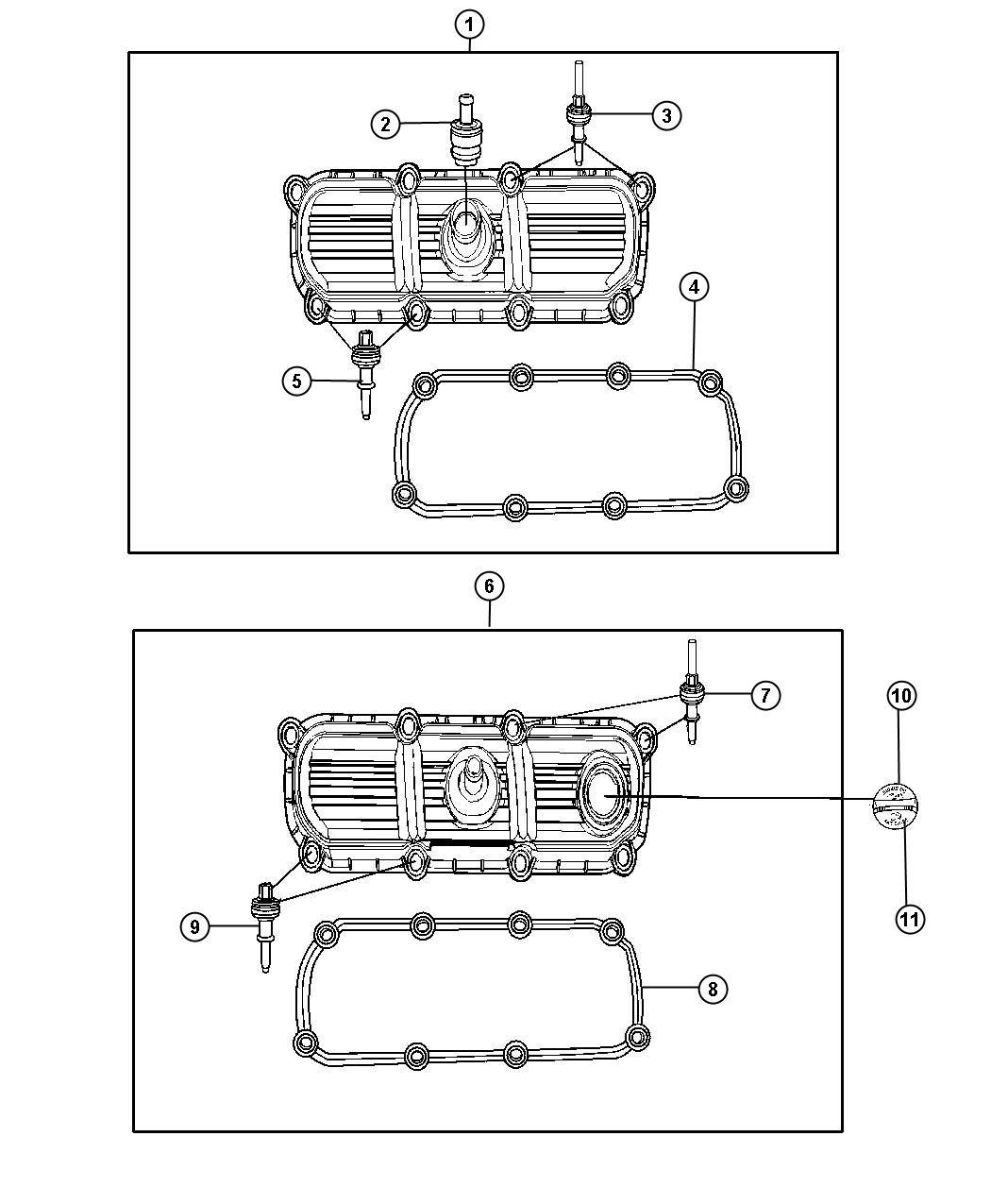 Jeep Wrangler Cover Cylinder Head Left Plastic
