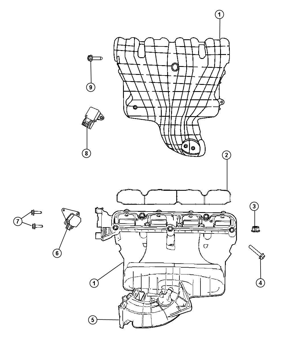 Jeep Patriot Manifold Intake Flow Ecn Eba