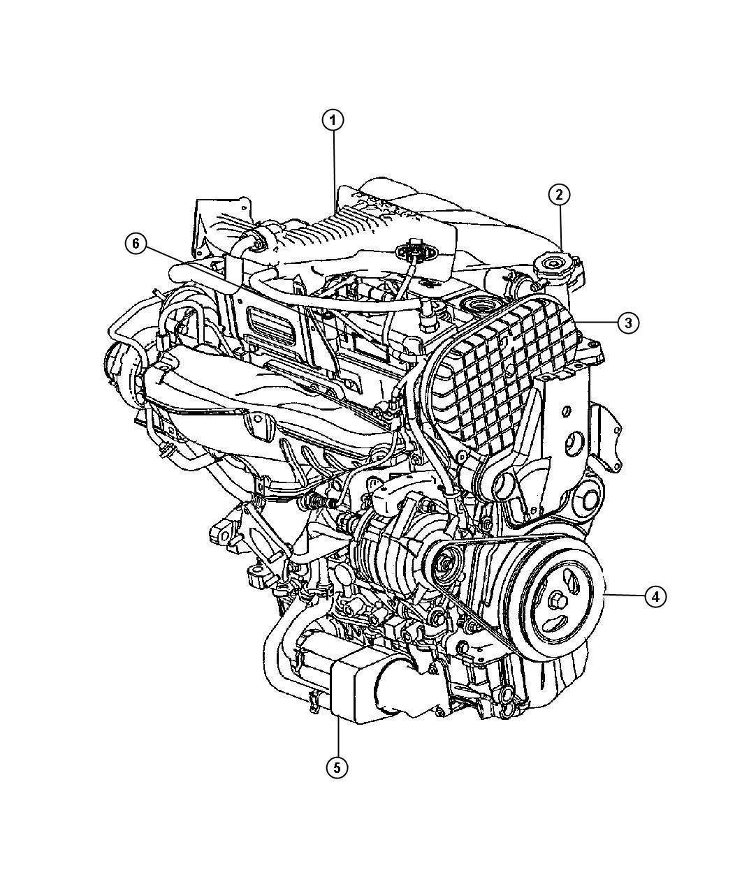 Chrysler Pt Cruiser Engine Long Block Remanufactured