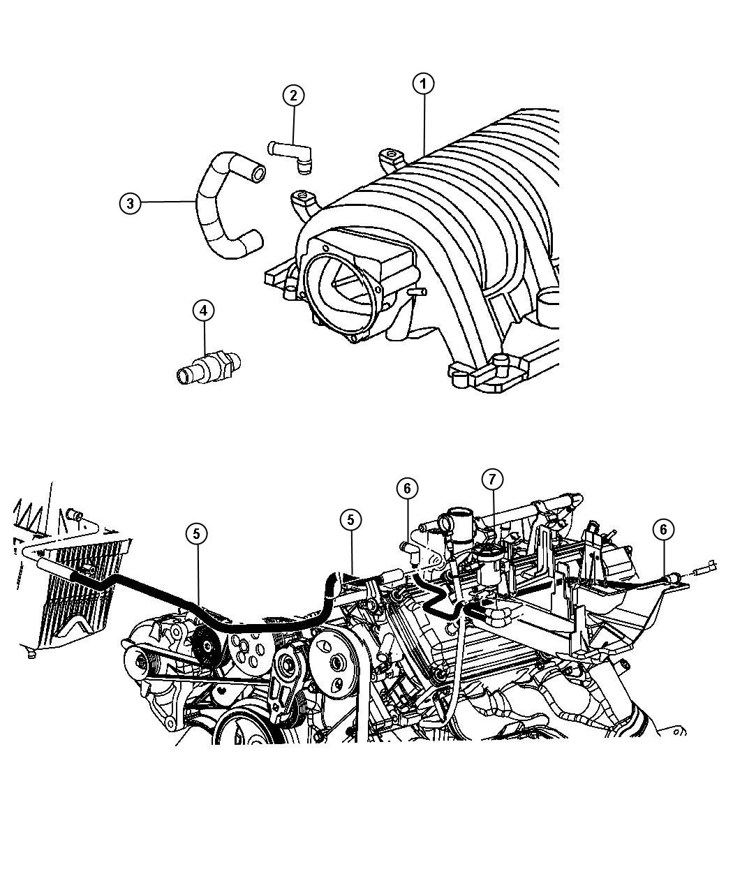 Crankcase Ventilation 6 1l 6 1l Srt Hemi Smpi V8 Engine