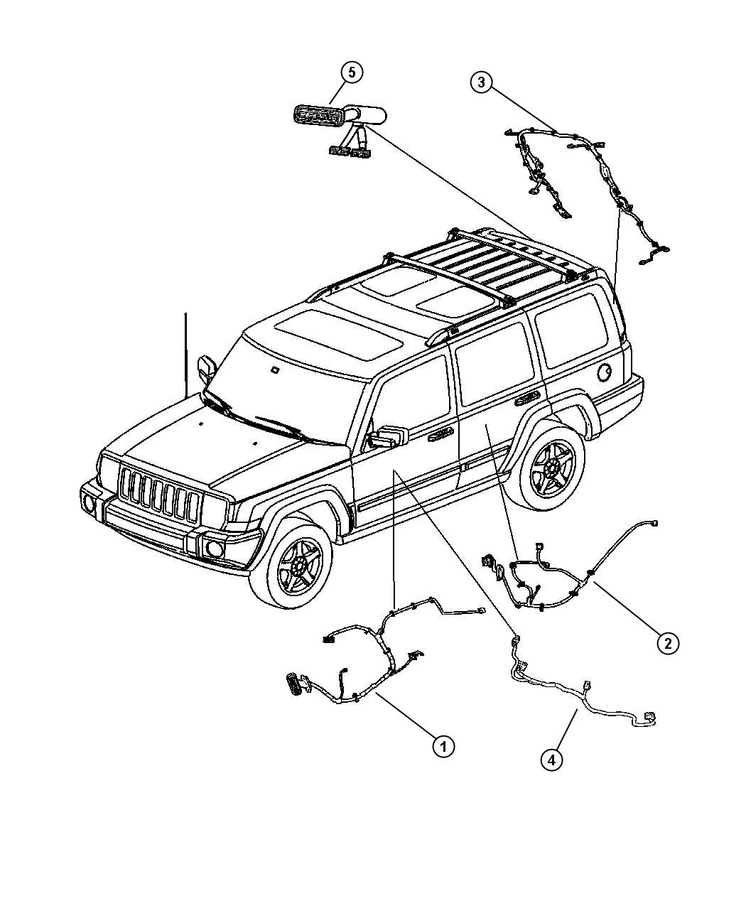 Jeep Commander Wiring Driver Driver Side Left