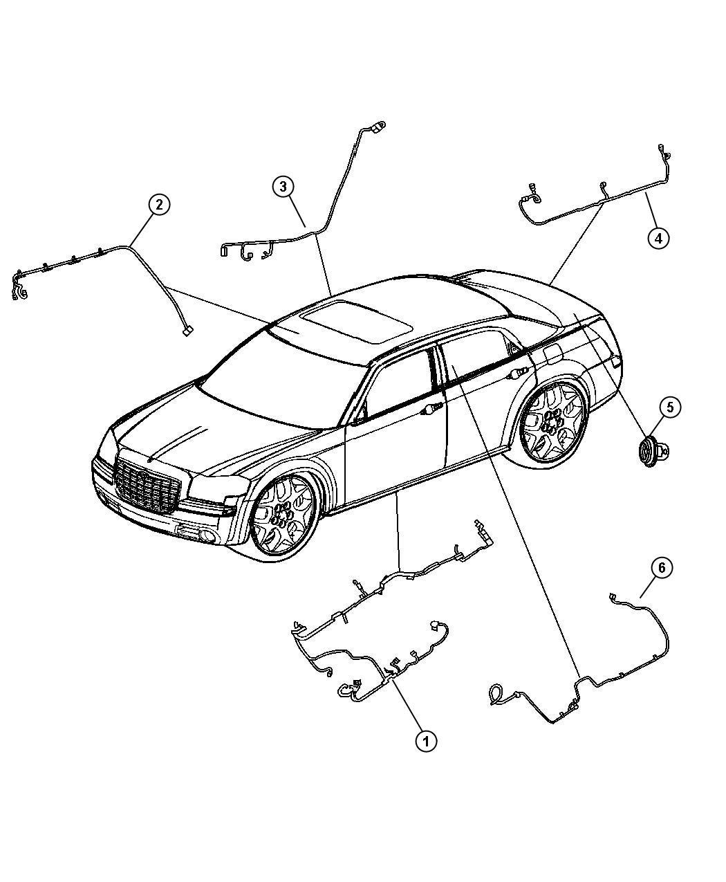 Chrysler 300 Wiring Body Entertainment Systems Sirius