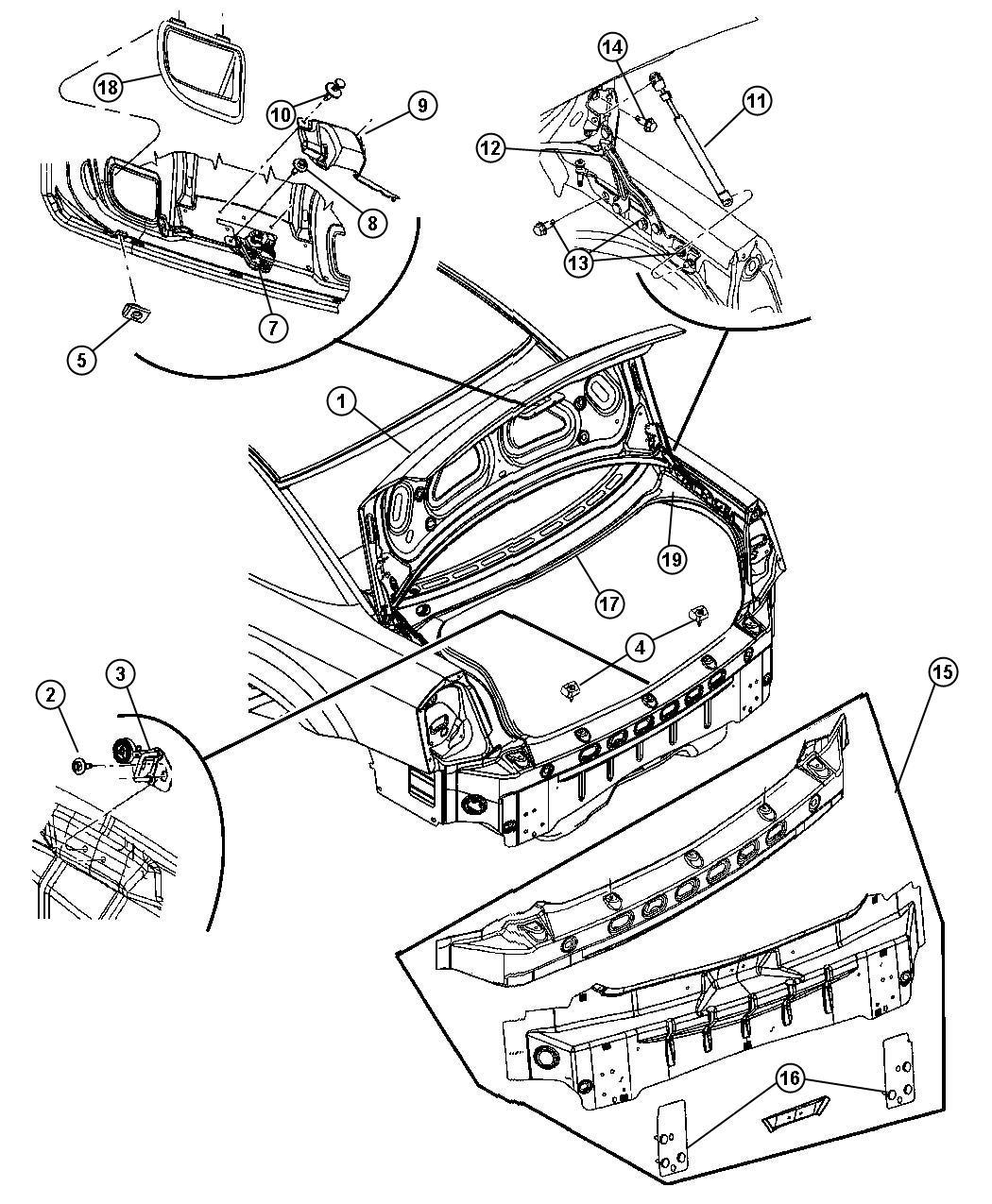 Dodge Charger Bumper Deck Lid Overslam