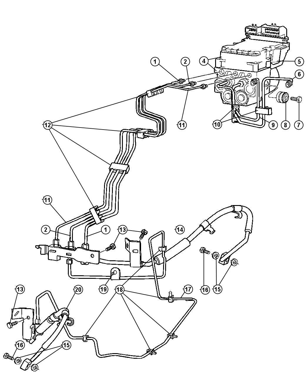 Dodge Ram Tube Tube Assembly Brake Master