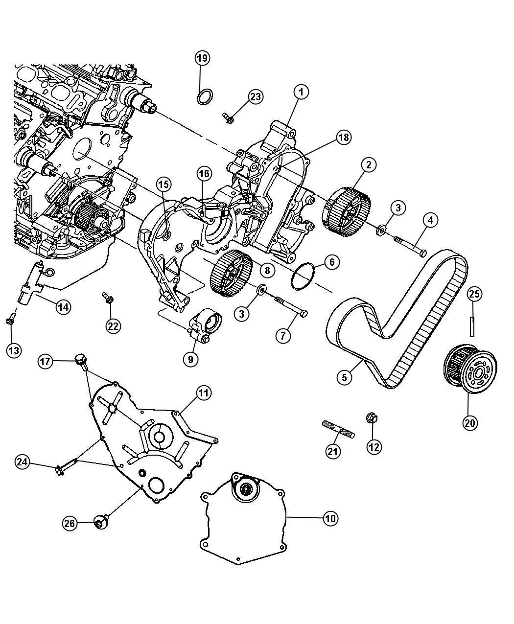 Chrysler Tensioner Tensioner Arm Belt Pivot