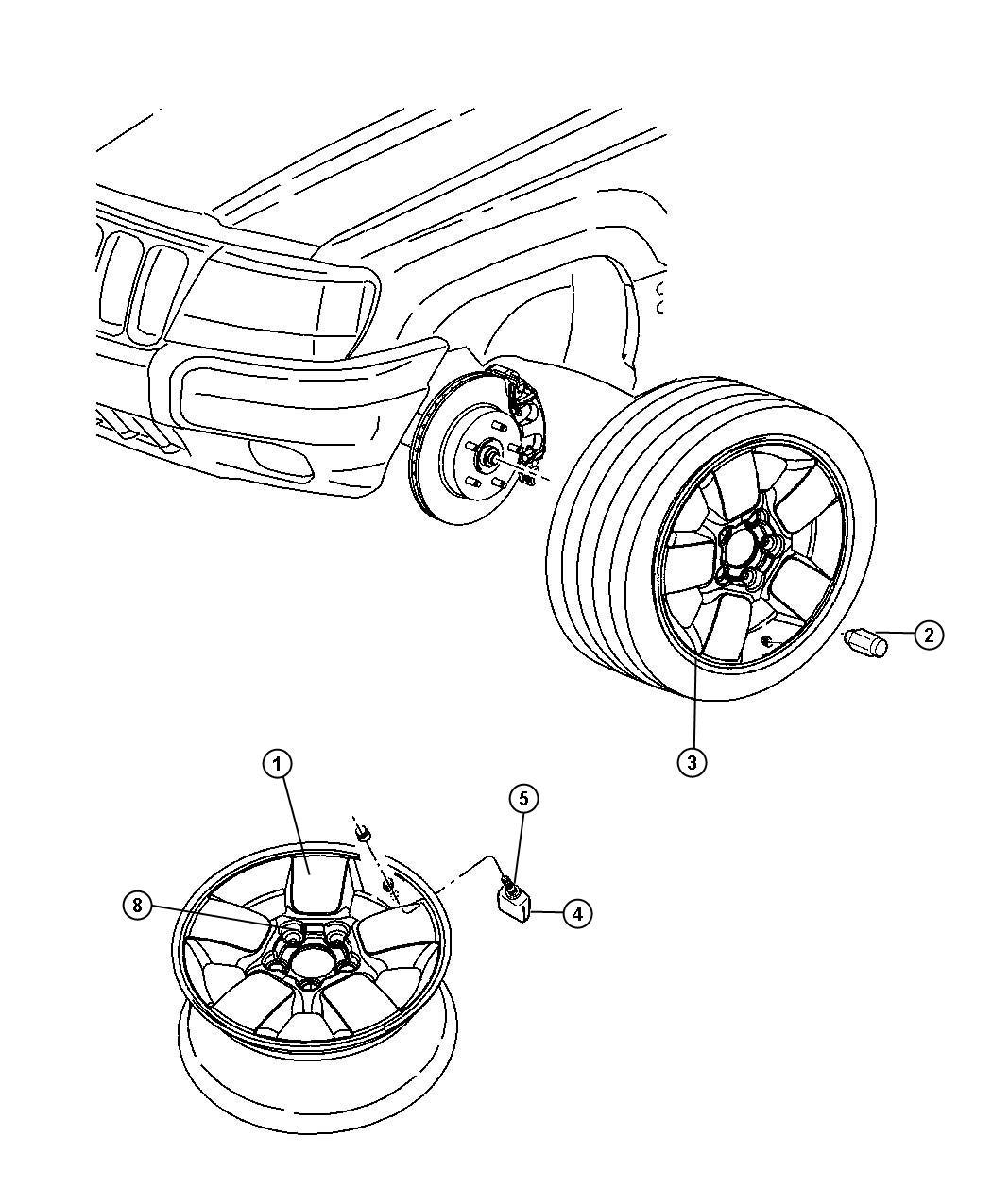Dodge Dakota Nut Wheel 50x20 Lug Wcap