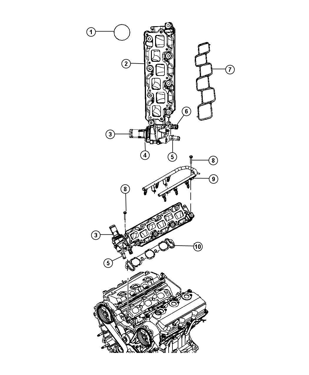 Dodge Nitro Gasket Intake Plenum