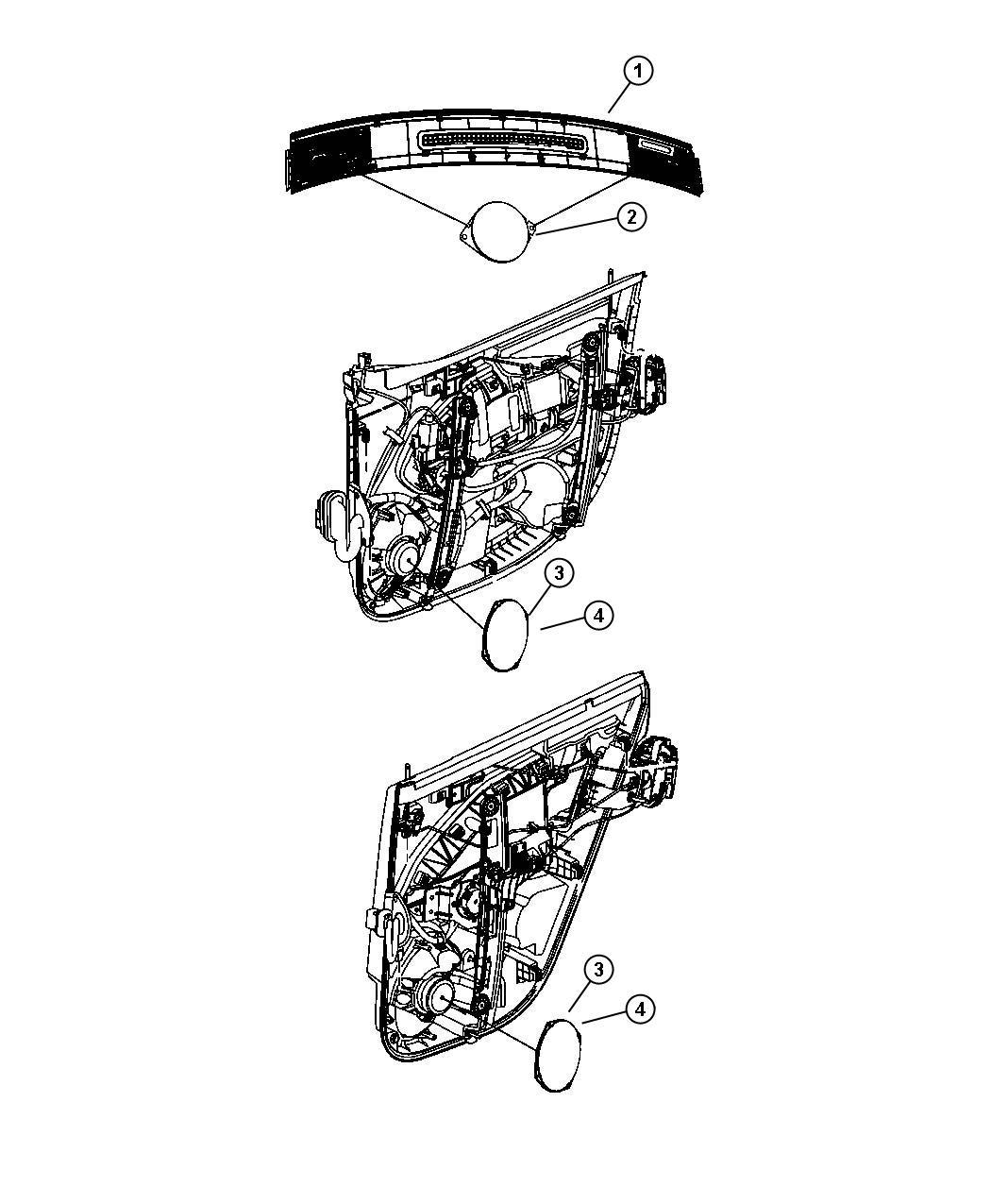 Jeep Patriot Speaker Instrument Panel 2 5 Trim No