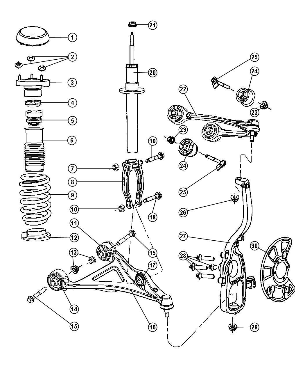 Dodge Charger Bolt Camber Caster Adjustment