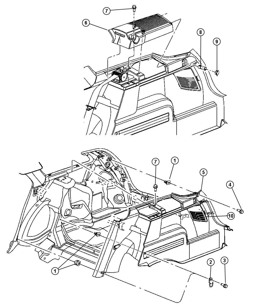Dodge Magnum Cover Taillamp Left D1 J1 Trim All