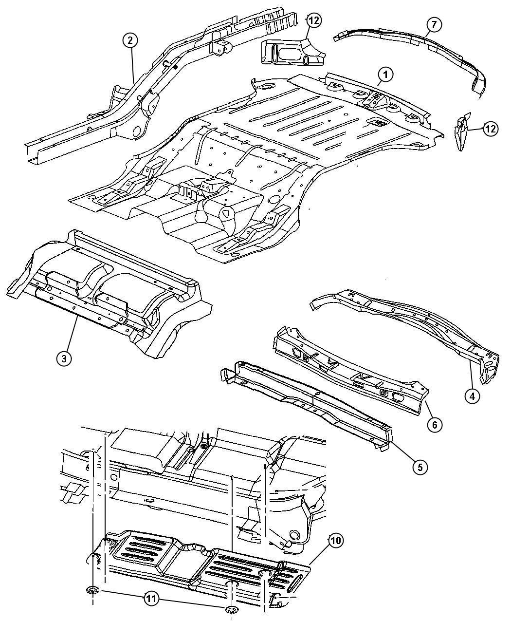 Jeep Grand Cherokee Pin Push Pin M11 4 M8x21