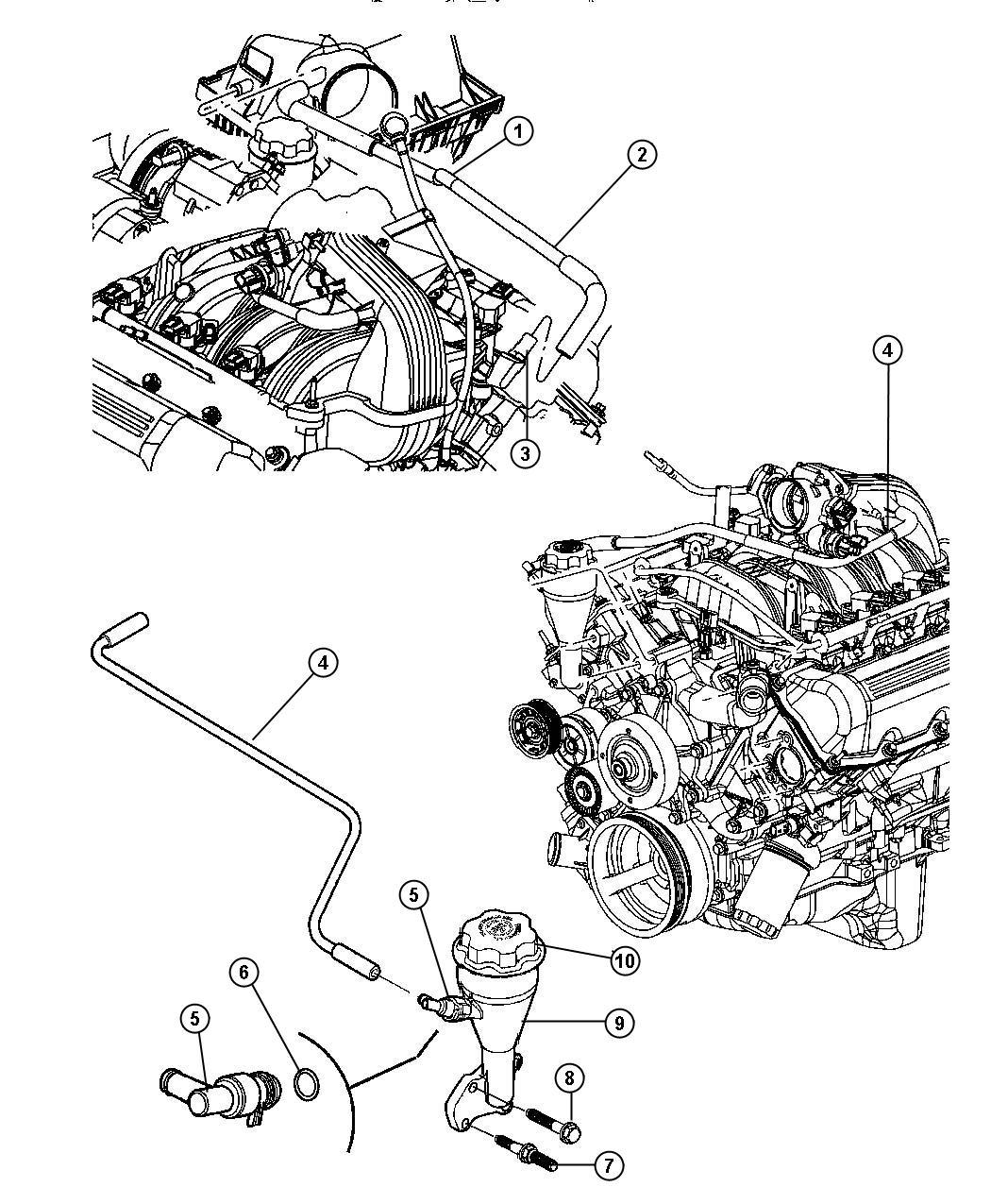 Chrysler Crankcase Ventilation 3 7l 3 7l V6 Engine