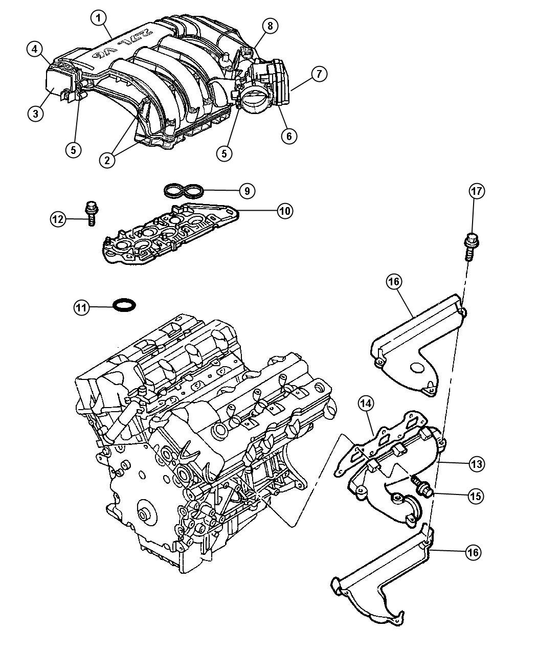 Dodge Journey Actuator Package Manifold Tuning Valve