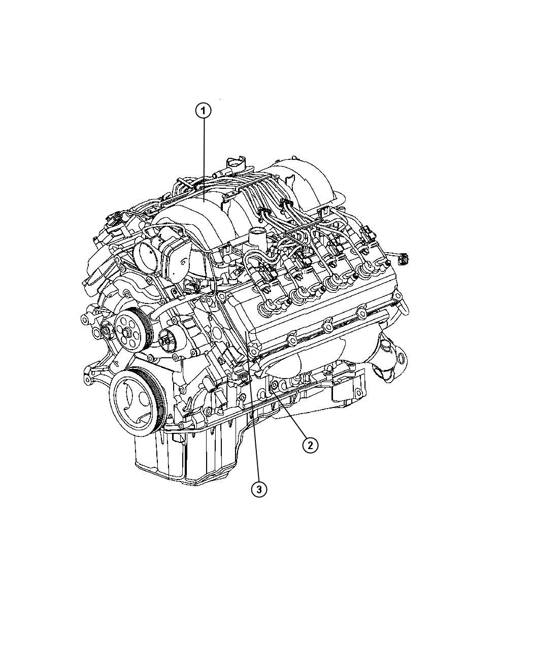 Dodge Charger R T 5 7l Hemi V8 Engine Long Block