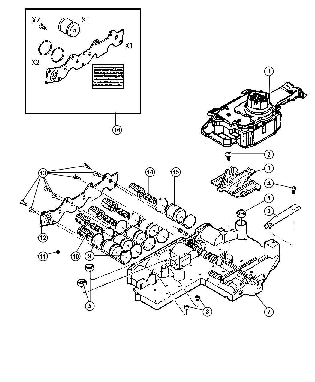 Dodge Ram Valve Body 45rfe Transmission 5 Spd