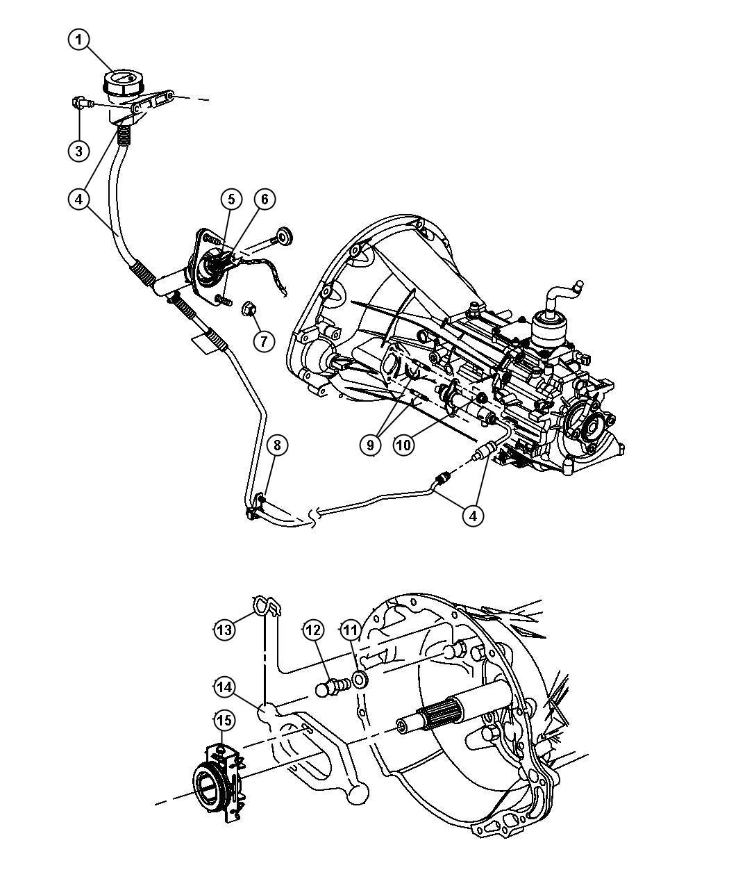 Dodge Diaphragm Clutch Reservoir Mounting
