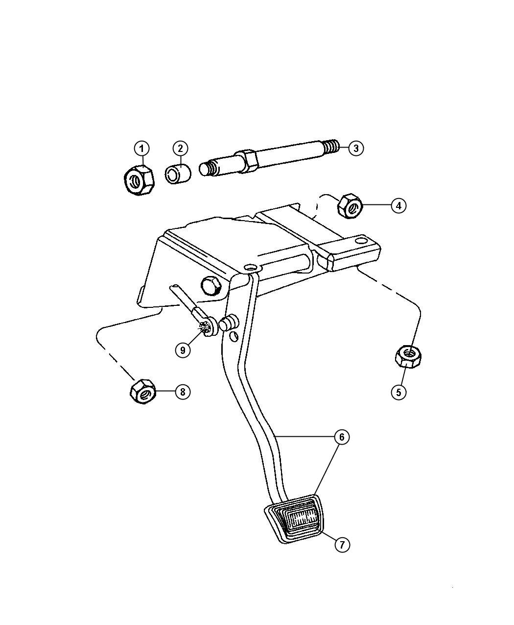 Jeep Wrangler Pedal Used For Brake And Clutch All