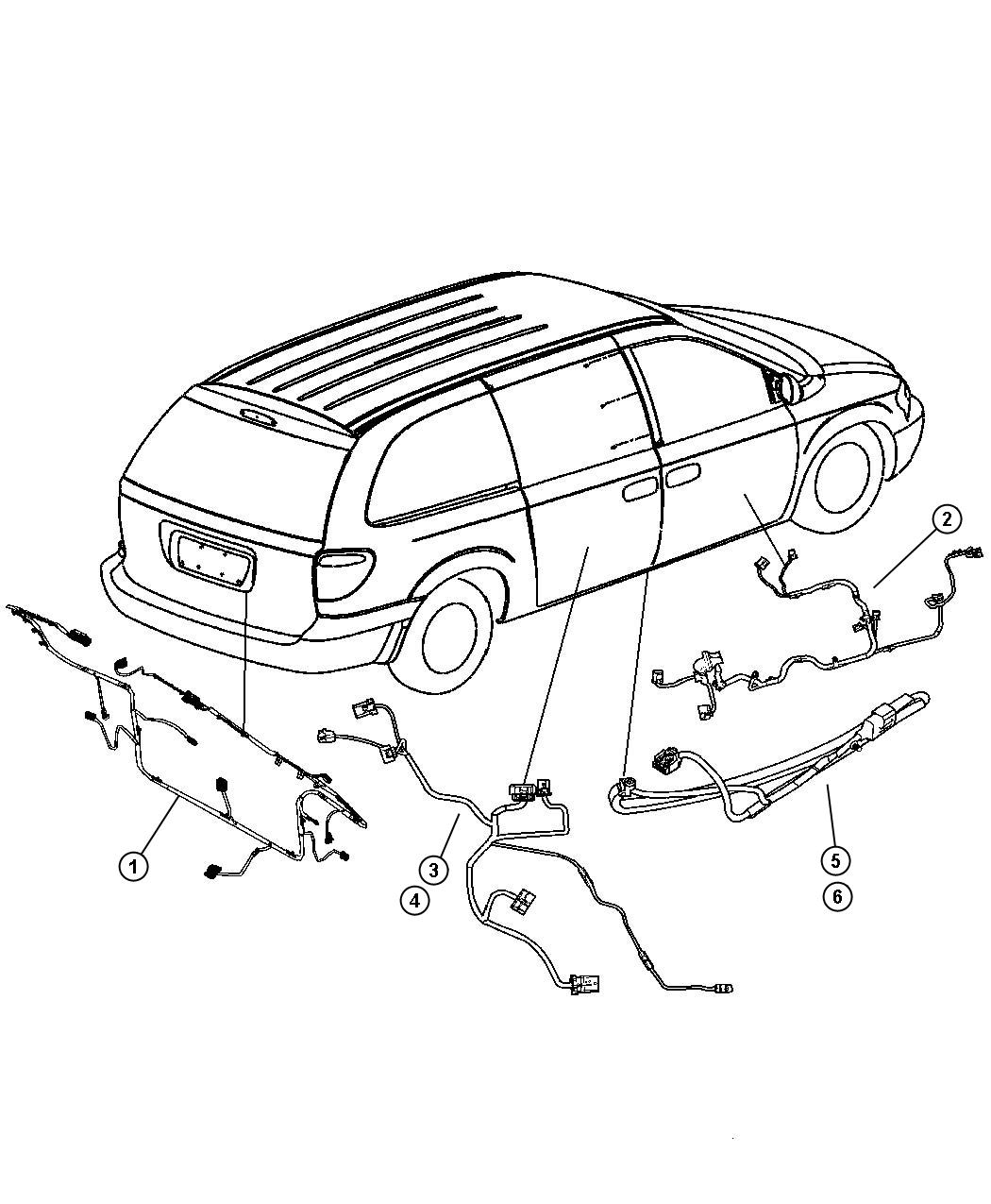 Dodge Caravan Wiring Liftgate Power Locks Rear Window