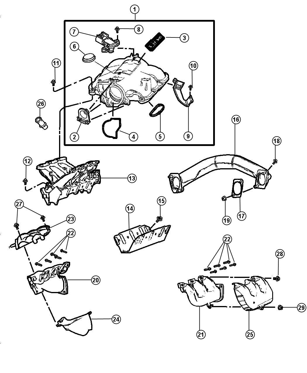 Chrysler Pacifica Plenum Intake Manifold Notes Midyear