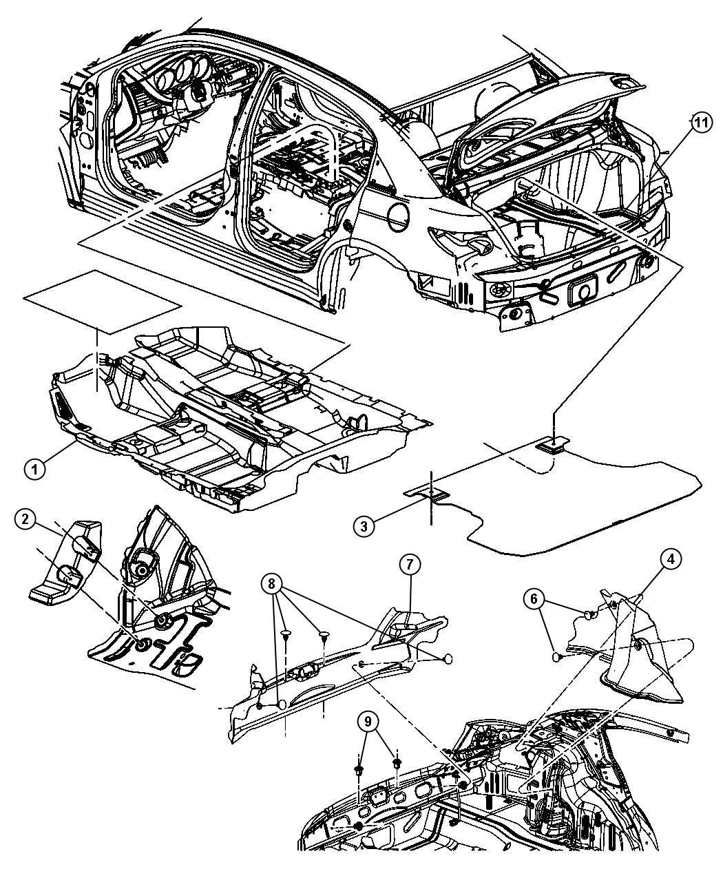 Chrysler Sebring Support Footrest